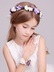 Satin Fabric Headpiece-Wedding Special Occasion Casual Outdoor Headbands Flowers Wreaths 1 Piece
