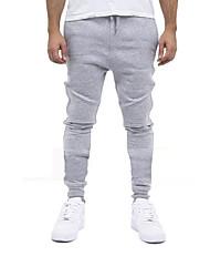 Per uomo Pantaloni da corsa Traspirante per Esercizi di fitness Attività ricreative Cotone Taglia piccola Nero Grigio M L XL XXL XXXL