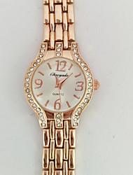 Damen Armband-Uhr Quartz Legierung Band Bequem Weiß