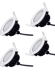 12W Luces LED Descendentes 48 SMD 5730 1100 lm Blanco Cálido / Blanco Fresco Regulable / Impermeable AC 100-240 V 4 piezas
