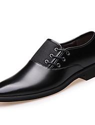 Herren-Sneakers Frühjahr Komfort Schweineleder Casual Screen Farbe braun schwarz