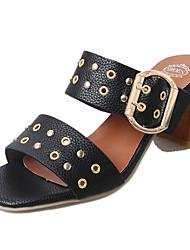 Damen-Sandalen-Outddor-PU-Block Ferse-Komfort-
