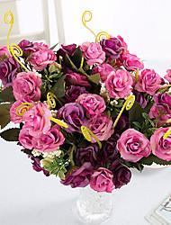 3 Une succursale Polyester Roses Fleur de Table Fleurs artificielles