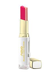 1Pcs  Waterproof Long Lasting Matte Lipstick Color Lipstickes Creative Double Color Lip Stick Gradient Change Color