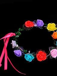 1pcs moda levou light-up piscando headband guirlanda flor grinalda mulheres meninas cabelo decoração festa de casamento casamento ramdon