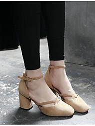 Женские босоножки весенние клубные туфли pu casual застенчивый розовый бежевый черный