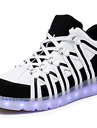 Unissex-Tênis-Light Up Shoes Shoe luminous-Salto Baixo-Branco Preto-Courino-Ar-Livre Casual Para Esporte