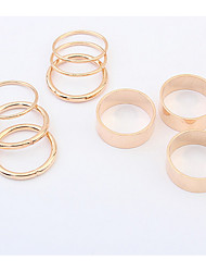 Euramerican punk  multiple composite ring of metals Rings Statement Jewelry
