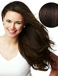 20PCS Tape In Hair Extensions #2 Dark Brown Mocha Brown 40g 16Inch 20Inch 100% Human Hair For Women