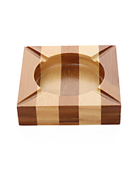 Bamboo wood products with Chinese characteristics striped and square ashtrays