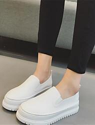 Damen-Loafers & Slip-Ons-Lässig-PUKomfort-Weiß