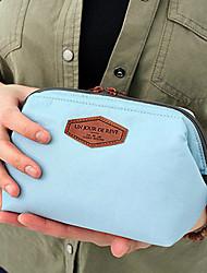 Bolsa de Viagem Dobrável Portátil Grande Capacidade para Organizadores para Viagem Algodão-Laranja Azul Escuro Azul Rosa claro
