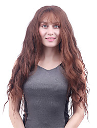 Long Body Wave Light Brown Women Synthetic Wigs Fiber Cheap Cosplay Party Hair
