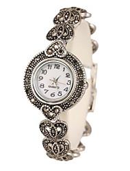 Женские Часы-браслет Кварцевый сплав Группа Серебристый металл