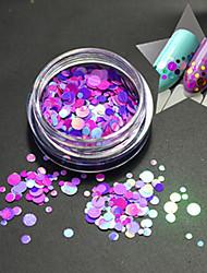 1Bottle Fashion Romantic Color Round Slice Decoration Nail Art Glitter Round Paillette Nail Art DIY Beauty Slice P18