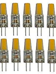 1.5W G4 Luci LED Bi-pin T 1 COB 250 lm Bianco caldo Bianco Decorativo AC220 V 10 pezzi