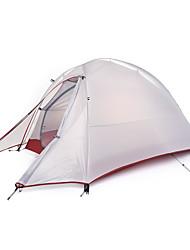 1 Pessoa Tenda Duplo Tenda Dobrada Um Quarto Barraca de acampamento Silicone Dobrável Portátil-Campismo Exterior-Cinzento