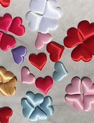 100pcs / set 20mm en forme de coeur applique de couture ou décoration de mariage