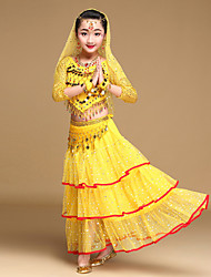 Shall We Belly Dance Outfits Kid Performance Chiffon 5 Pieces