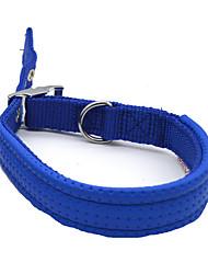 Colar respirável running segurança formação sólida liga de nylon azul vermelho preto
