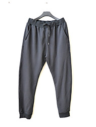 Men's Low Rise Stretchy Sweatpants Pants,Active Loose Solid