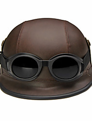 Medio Casco Casco con Googles Los cascos de motocicleta