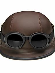 Meio Capacete Capacete com Googles capacetes para motociclistas