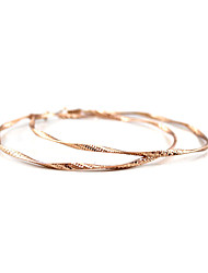 Hoop Earrings Jewelry Unique Design Tag Euramerican Fashion Personalized Hypoallergenic Rose Gold Plated Circle Rose Gold Gold Jewelry For