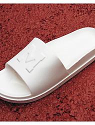 Homme Chaussons & Tongs Confort couple Chaussures Printemps Gomme Décontracté Blanc Noir Écran couleur Plat