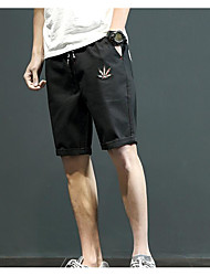 Men's Low Rise Inelastic Shorts Pants,Simple Straight Solid