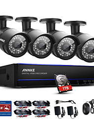 ANNKE® 8CH 1080P 4PCS HD Video PoE IP Network CCTV AHD DVR Waterproof Camera Home Surveillance Security System IR Day Night Vision 1TB