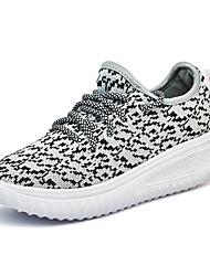 Damen-Sneaker-Outddor Lässig-KunststoffLeuchtende Sohlen-Schwarz Grau Fuchsia