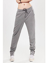 Mujer Activo Tiro Medio Microelástico Pantalones de Deporte Pantalones,Pantalones Harén Un Color Color puro