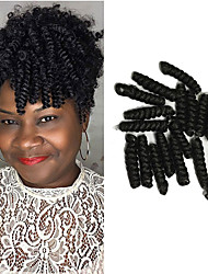 1pack 10inch Bouncy Curl crotchet braid carrie curl haar extension 10inch kanekalon crotchet hair synthetic braid20roots/pack 5packs make head