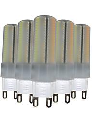 6W G9 Luci LED Bi-pin T 136 SMD 3014 500-600 lm Bianco caldo Bianco Intensità regolabile Decorativo V 5 pezzi