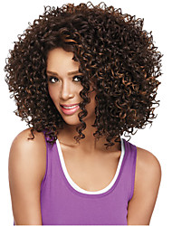 Mixed Brown Color Wigs For Black Women Heat Resistant Synthetic Wig Curly Synthetic Women Afro European Wigs