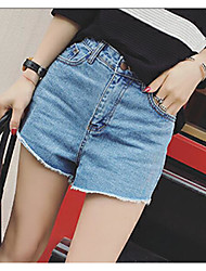 Women's High Rise strenchy Shorts Pants,Street chic Slim Print