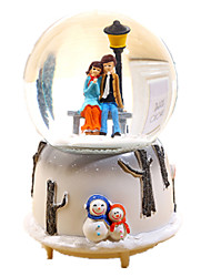 Music Box Sphere Holiday Supplies Glass Resin Unisex
