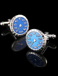 Trendy Mens Cufflinks Blue Car Speedometer Cuff Links Mens Accessories Men Cufflinks French Cuffs Buttons Gifts