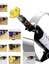 Wine Stopper Ceramic MetalWine Accessories Hand made Ceramics Flower Wine Stoper White Black Blue Various Wine Cork Corkscrew Bottle Wine Pourer