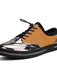 Homme-Extérieure Décontracté Sport-Noir OrangeConfort-Baskets-Polyester Tissu