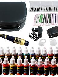 Solong tatouage kit de maquillage permanent tatouage stylo machine à lèvres maquillage machine 23 encres de maquillage ek708-6