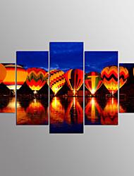 Toile étirée impression paysage moderne, cinq panneaux toile toute forme print wall decor pour décoration de la maison
