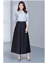 Women's Low Rise Micro-elastic Business Pants,Simple Straight Solid
