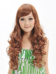 Capless Long Deep Wavy Wig Synthetic Fiber Wig Heat Resistant Hairstyle