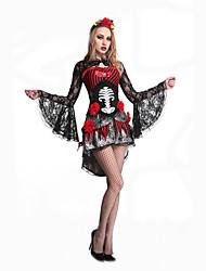 Fantasias de Cosplay Festa a Fantasia Baile de Máscara Mago/Bruxa Esqueleto/Caveira Fantasma Vampiros Fantasias Cosplay de FilmesVestido