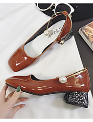 Women's Heels Light Up Shoes Silicone Casual Low Heel Light Brown Red Black