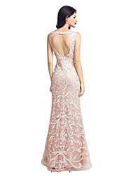 Formal Evening Dress Trumpet / Mermaid Sweetheart Floor-length Lace with Appliques