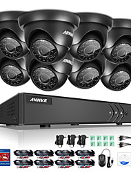 ANNKE® 8CH 8PCS 1080P 2.0M DVR 720P HD HDMI Waterproof Monitor Camera Surveillance System IR Cut Night Vision