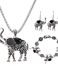 lureme® Jewelry Set Multi-stone Basic Unique Design Animal Design Euramerican Vintage Luxury Statement Jewelry Classic Gemstone ChromeAnimal